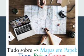 Mapas em papel