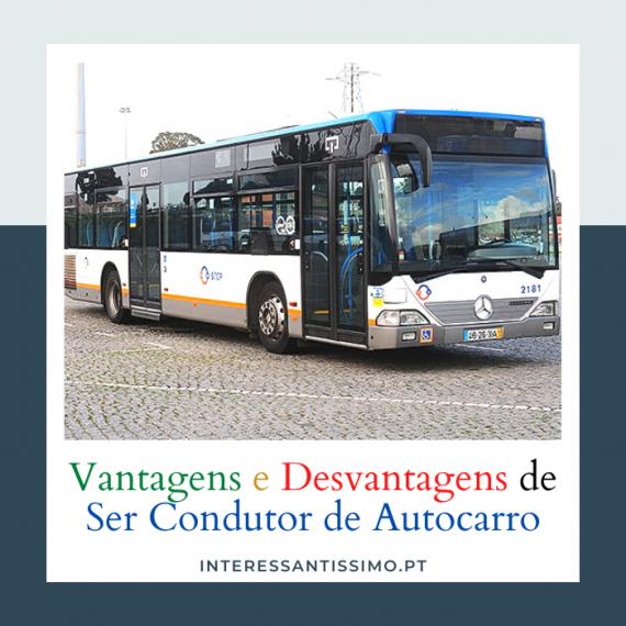 Vantagens e Desvantagens de ser condutor de autocarro
